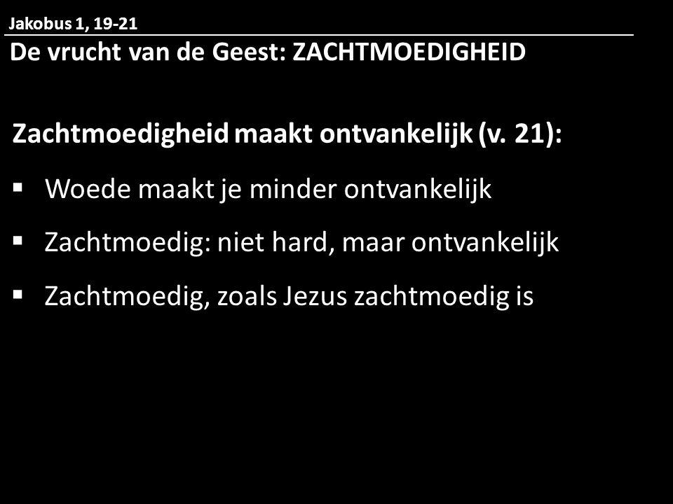 Zachtmoedigheid maakt ontvankelijk (v. 21):