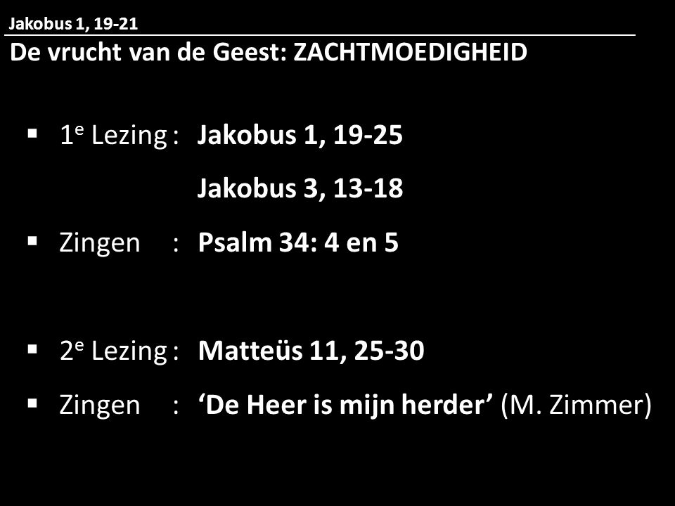 Zingen : 'De Heer is mijn herder' (M. Zimmer)