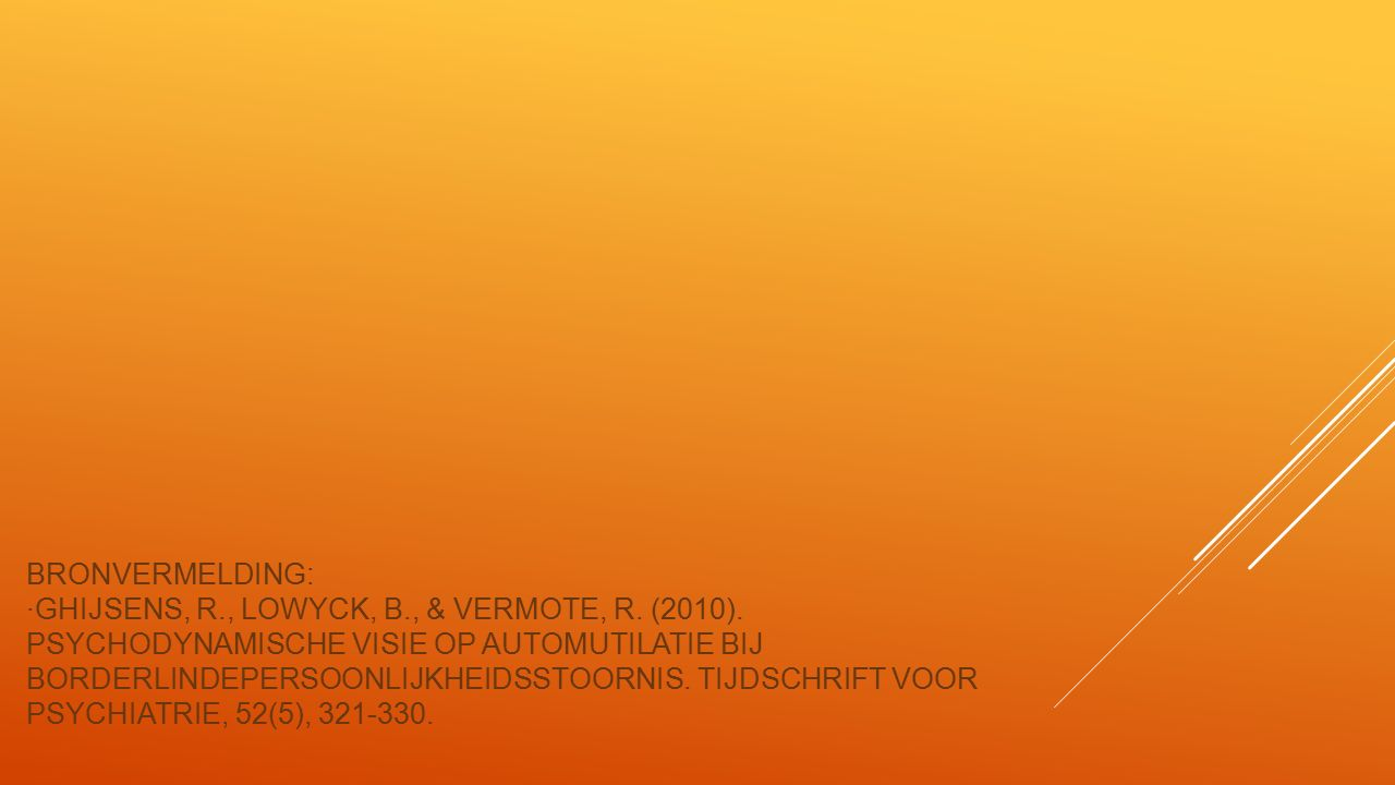 Bronvermelding: ∙Ghijsens, R. , Lowyck, B. , & Vermote, R. (2010)