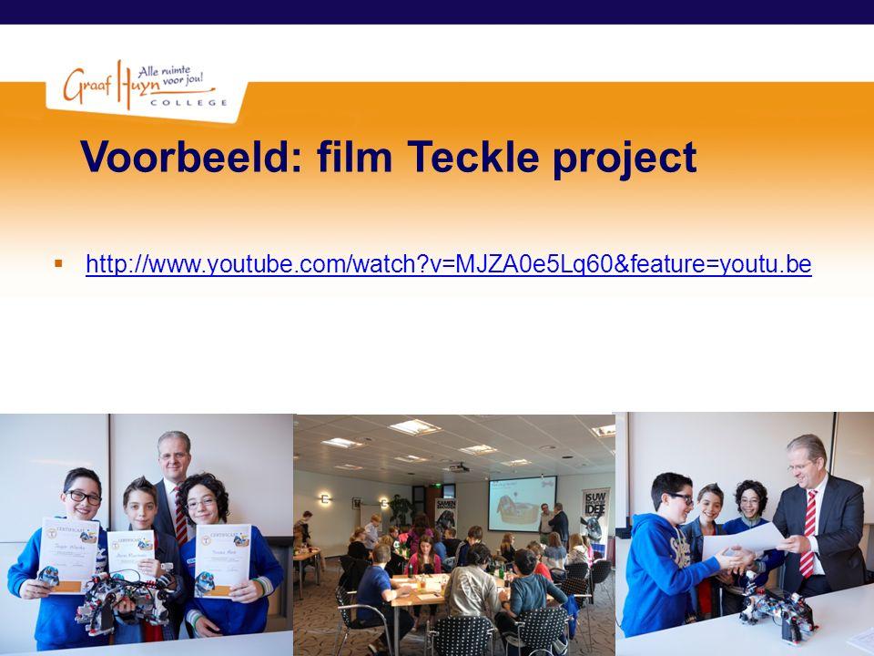 Voorbeeld: film Teckle project
