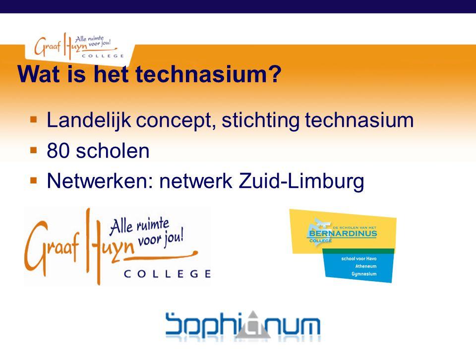 Wat is het technasium Landelijk concept, stichting technasium