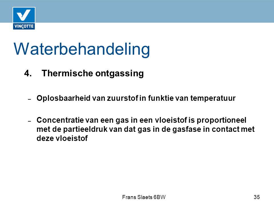 Waterbehandeling 4. Thermische ontgassing
