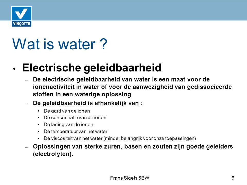 Wat is water Electrische geleidbaarheid