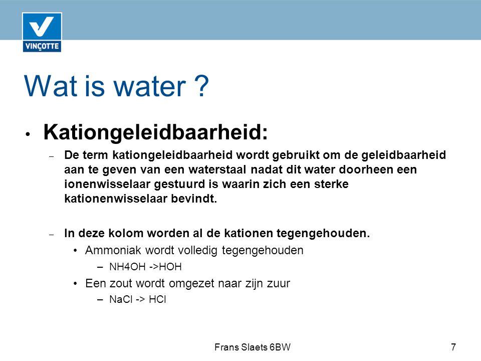 Wat is water Kationgeleidbaarheid: