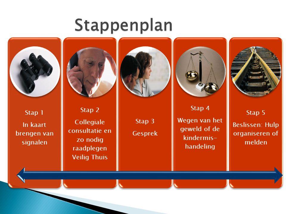 Stappenplan Stap 1 In kaart brengen van signalen Stap 2