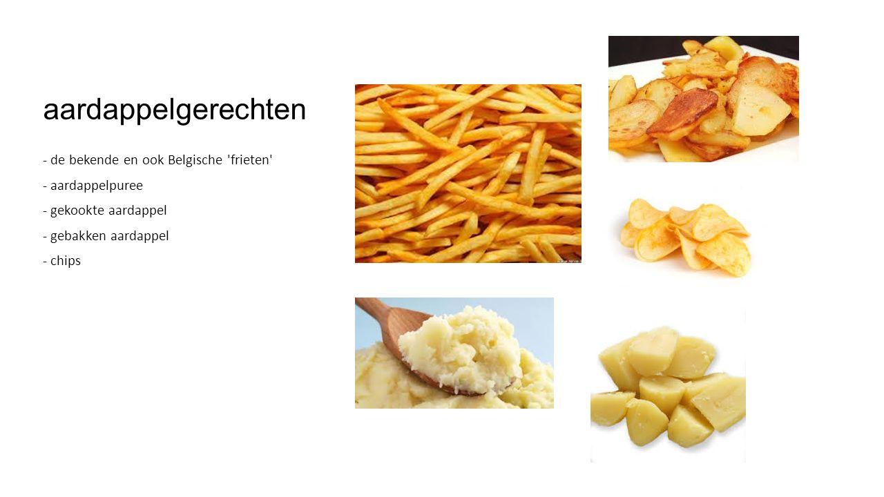 aardappelgerechten - de bekende en ook Belgische frieten