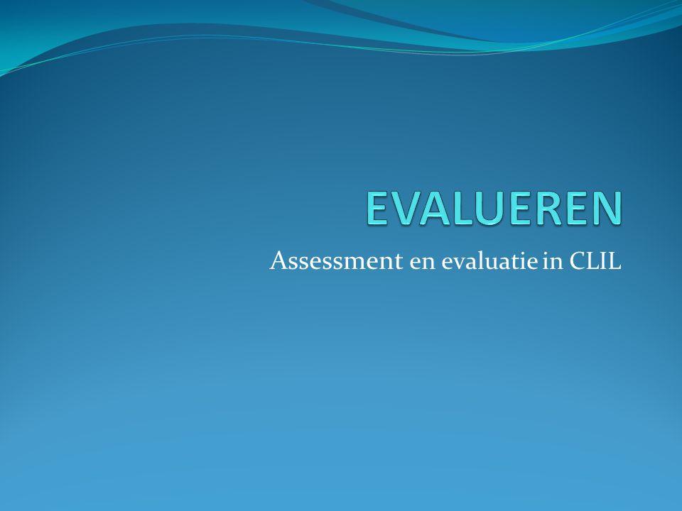 Assessment en evaluatie in CLIL