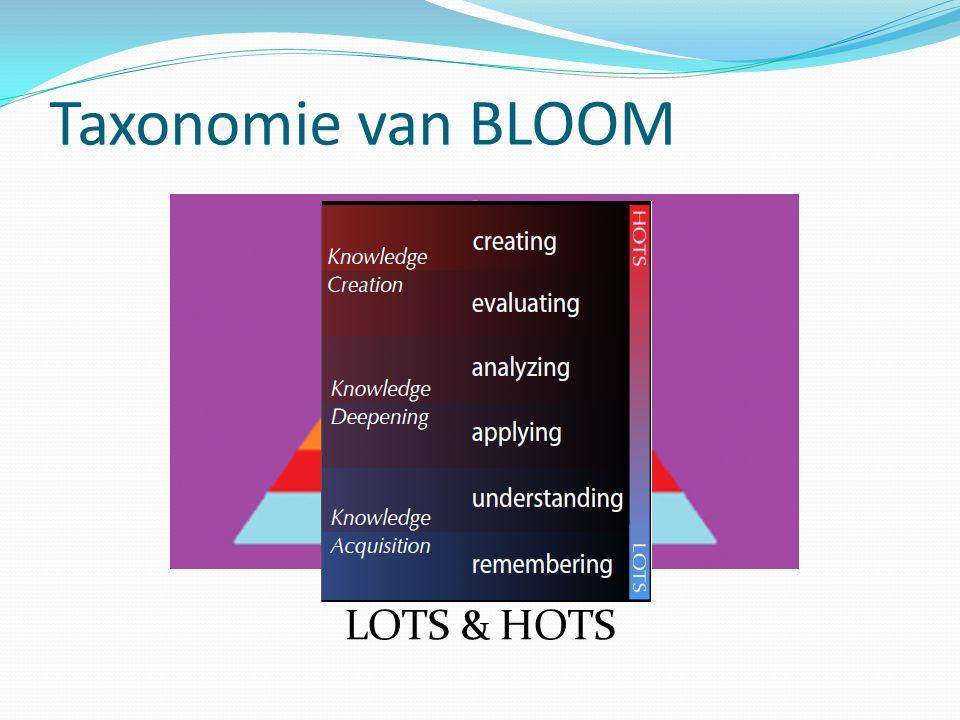 Taxonomie van BLOOM LOTS & HOTS