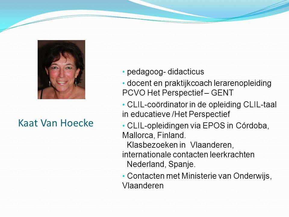 Kaat Van Hoecke pedagoog- didacticus