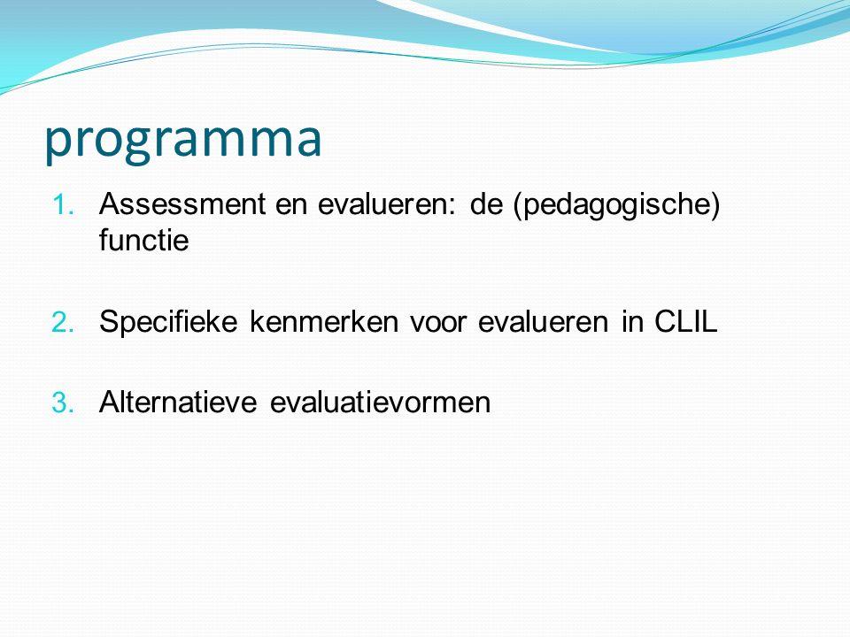 programma Assessment en evalueren: de (pedagogische) functie