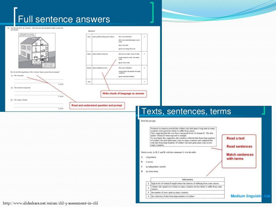 http://www.slideshare.net/mirun/clil-5-assessment-in-clil