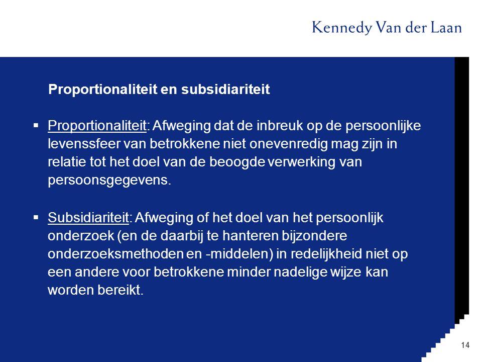 Proportionaliteit en subsidiariteit