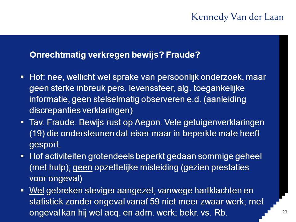 Onrechtmatig verkregen bewijs Fraude