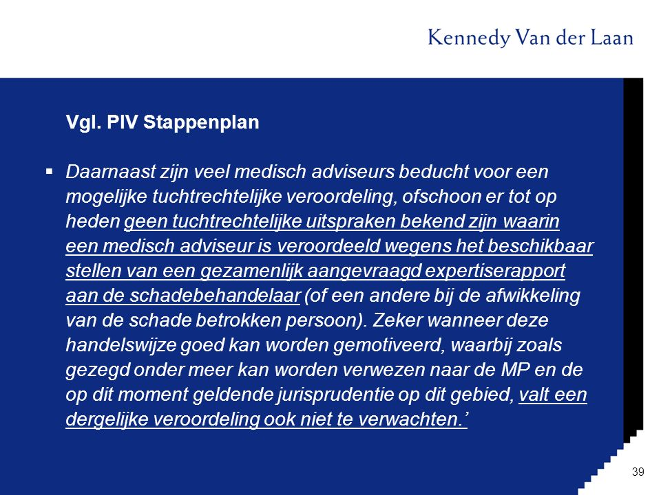 Vgl. PIV Stappenplan