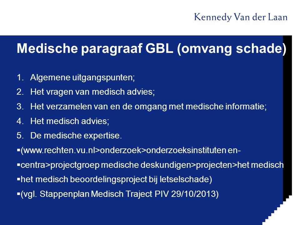 Medische paragraaf GBL (omvang schade)