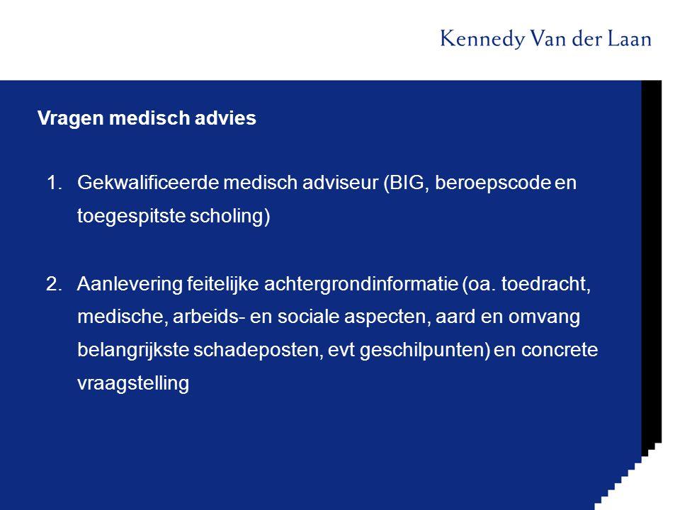 Vragen medisch advies Gekwalificeerde medisch adviseur (BIG, beroepscode en toegespitste scholing)