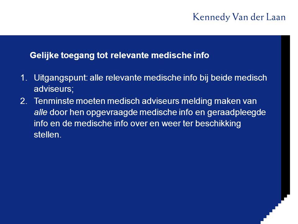 Gelijke toegang tot relevante medische info