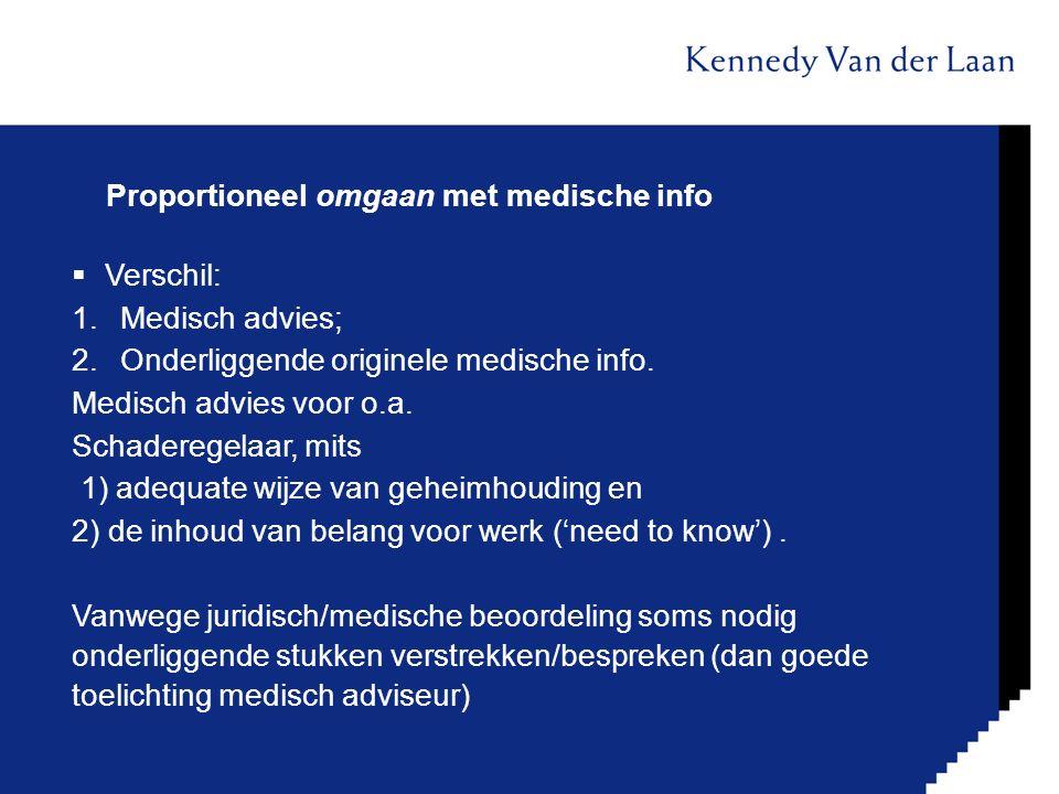 Proportioneel omgaan met medische info