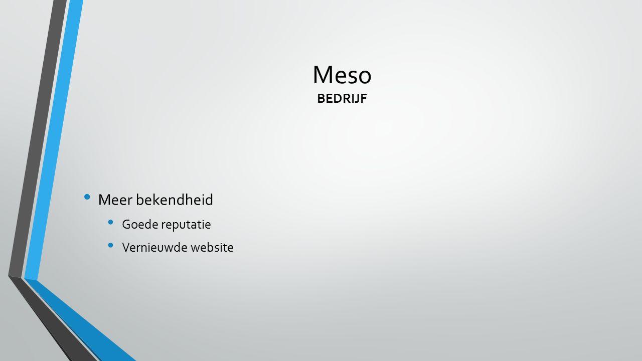 Meso BEDRIJF Meer bekendheid Goede reputatie Vernieuwde website