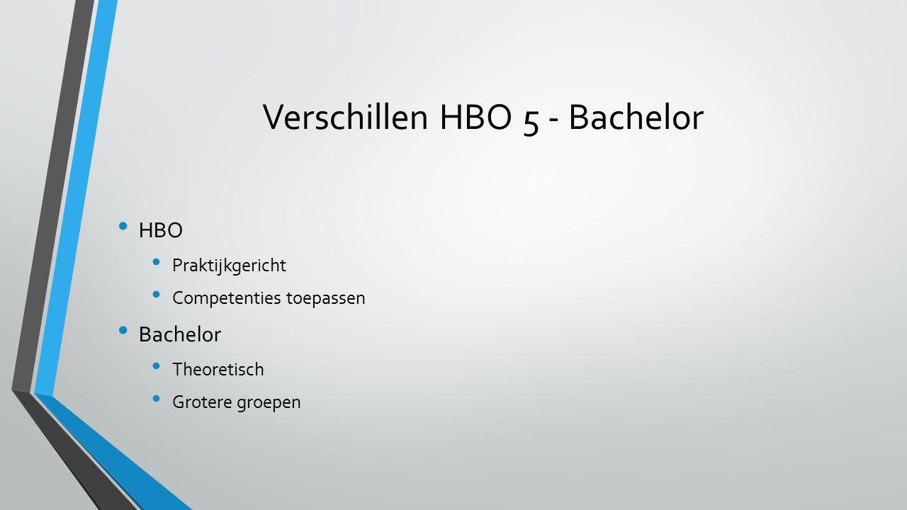 Verschillen HBO 5 - Bachelor
