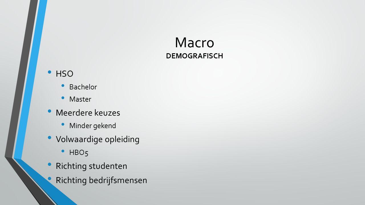 Macro DEMOGRAFISCH HSO Meerdere keuzes Volwaardige opleiding