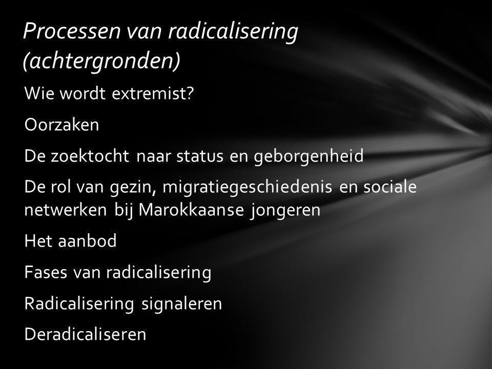 Processen van radicalisering (achtergronden)