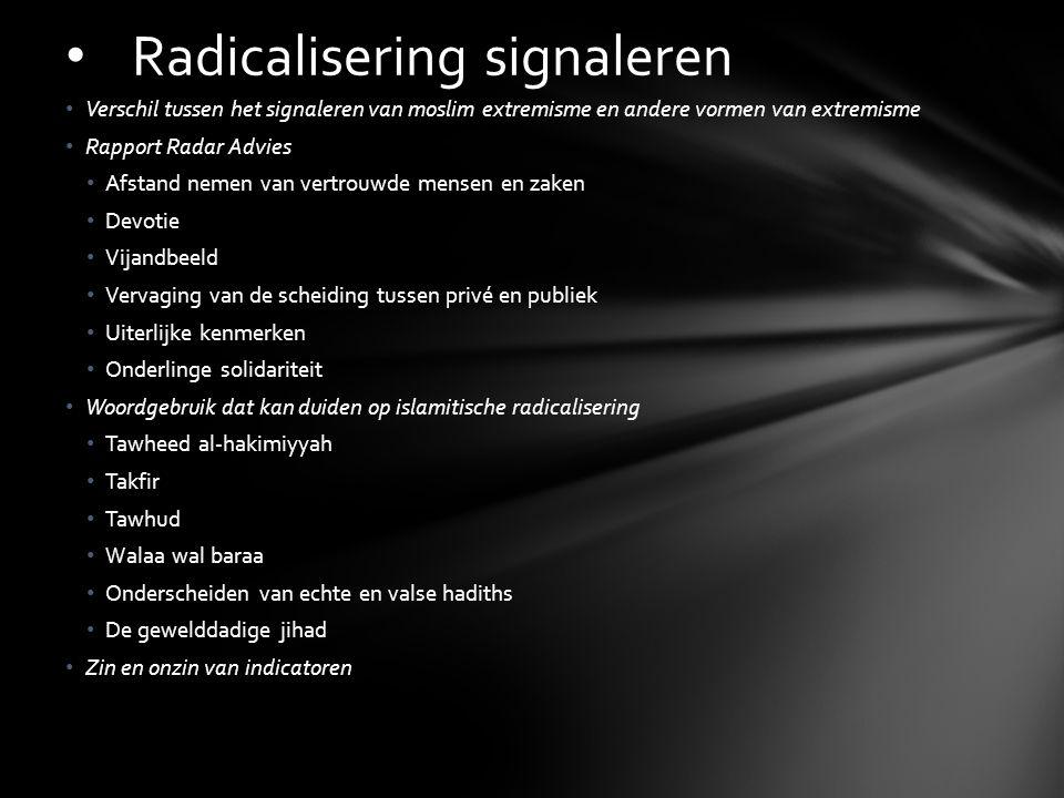 Radicalisering signaleren