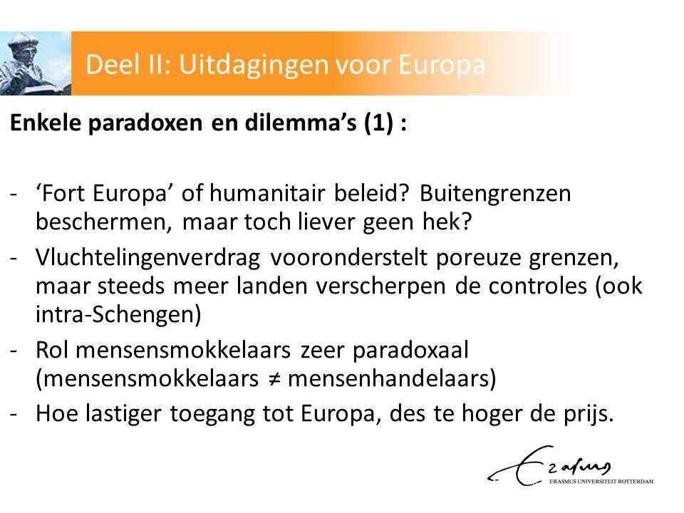 Deel II: Uitdagingen voor Europa