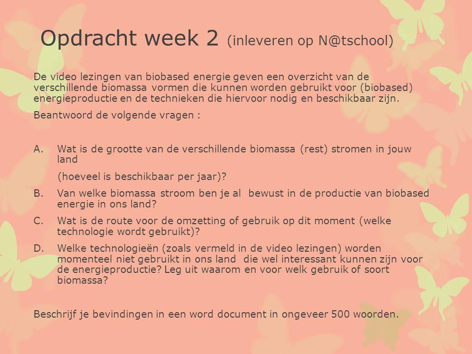 Opdracht week 2 (inleveren op N@tschool)