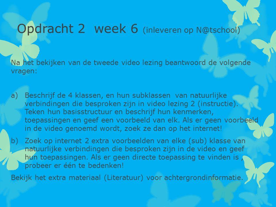 Opdracht 2 week 6 (inleveren op N@tschool)