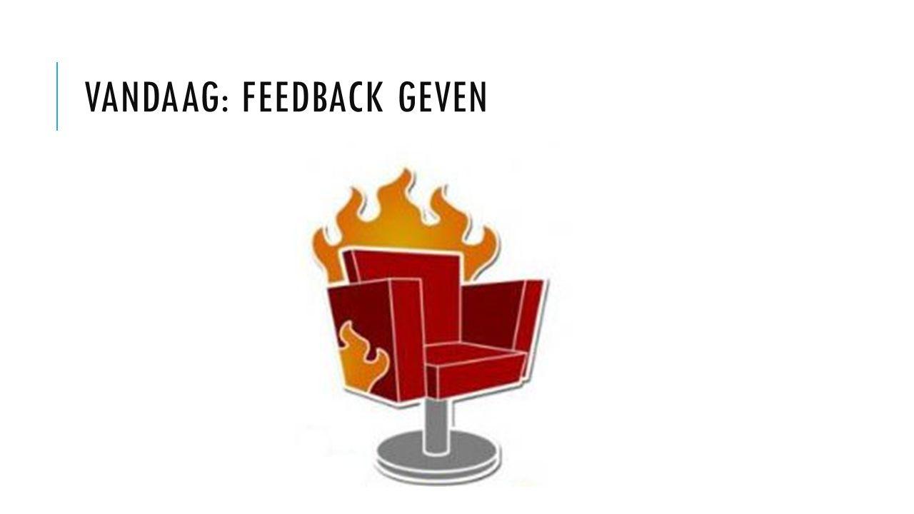 Vandaag: Feedback geven