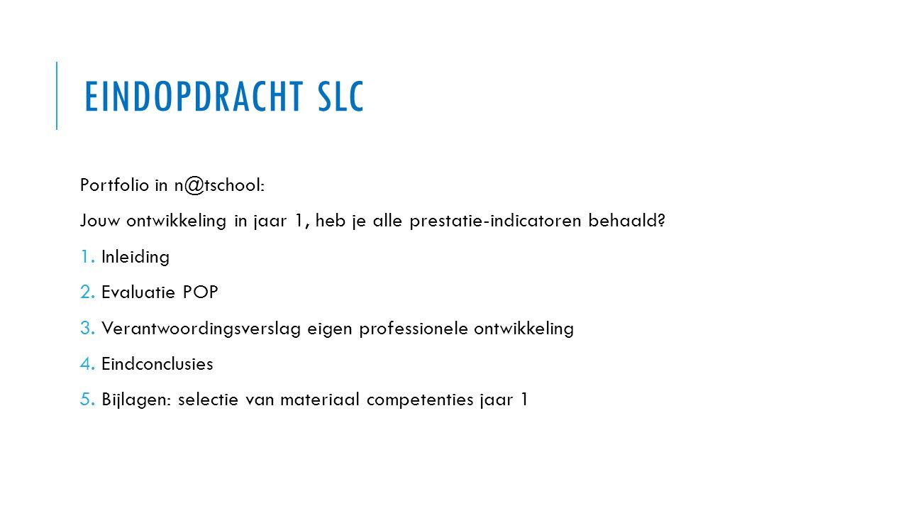 Eindopdracht SLC Portfolio in n@tschool:
