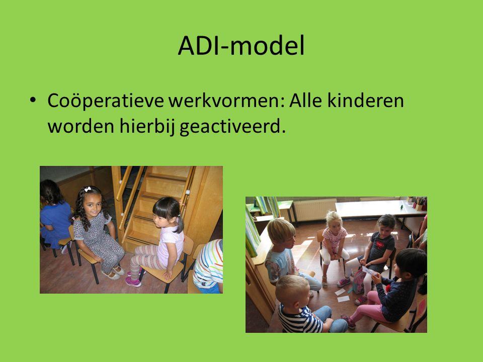 ADI-model Coöperatieve werkvormen: Alle kinderen worden hierbij geactiveerd.