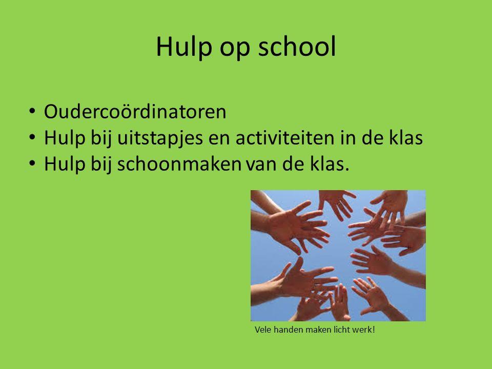 Hulp op school Oudercoördinatoren