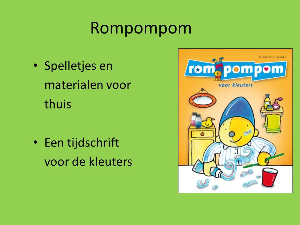 Rompompom Spelletjes en materialen voor thuis Een tijdschrift
