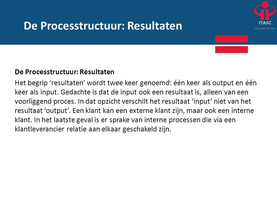 De Processtructuur: Resultaten