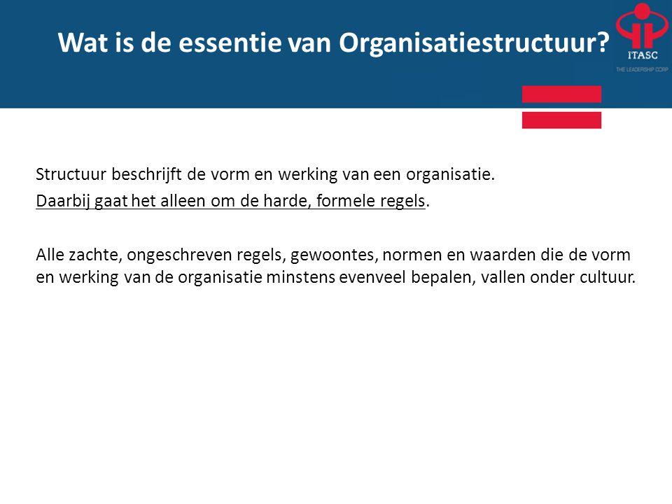 Wat is de essentie van Organisatiestructuur