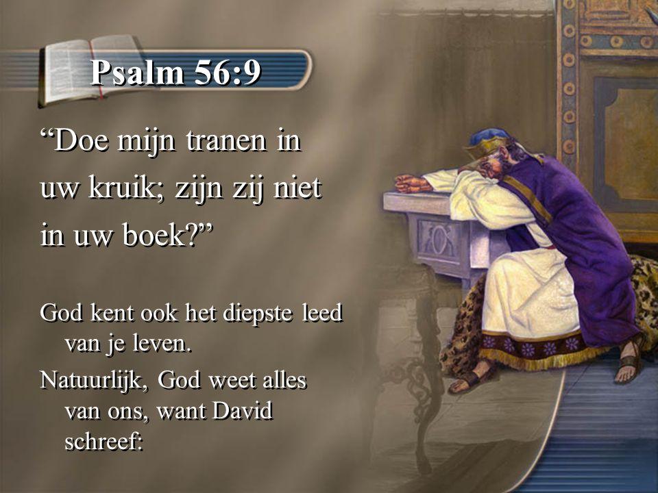 Psalm 56:9 Doe mijn tranen in uw kruik; zijn zij niet in uw boek