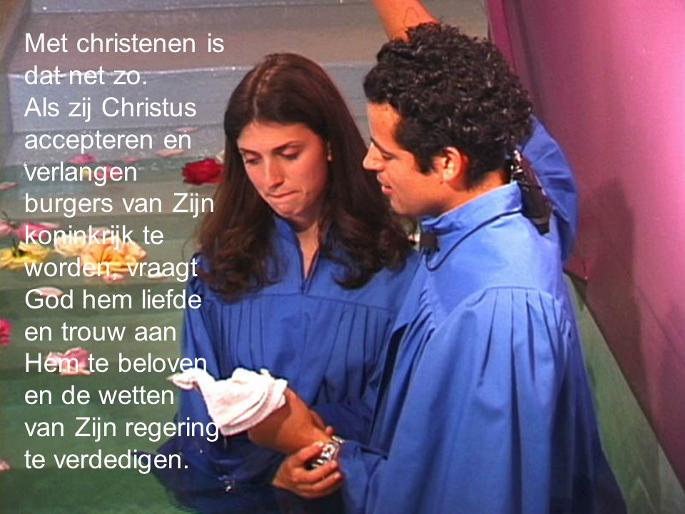 Met christenen is dat net zo.
