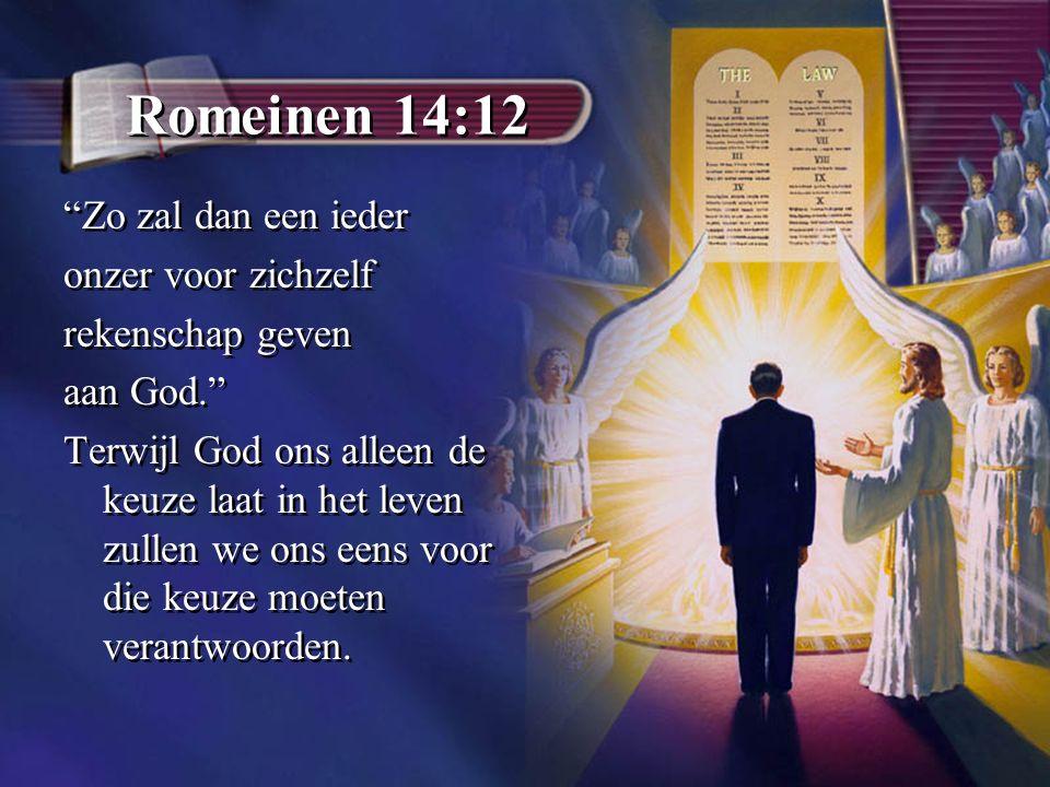 Romeinen 14:12 Zo zal dan een ieder onzer voor zichzelf