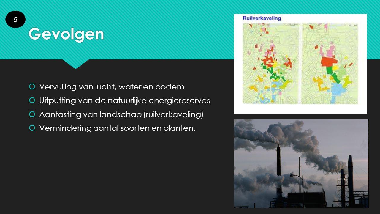 Gevolgen Vervuiling van lucht, water en bodem