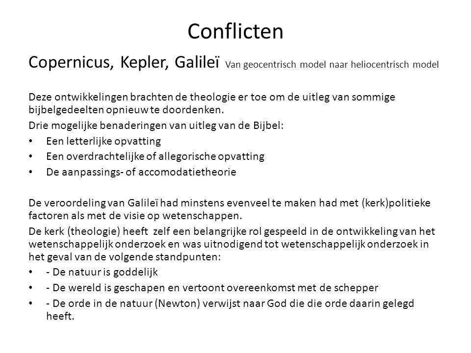 Conflicten Copernicus, Kepler, Galileï Van geocentrisch model naar heliocentrisch model.