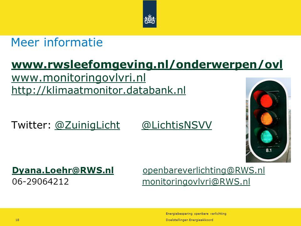 Meer informatie www.rwsleefomgeving.nl/onderwerpen/ovl www.monitoringovlvri.nl http://klimaatmonitor.databank.nl.