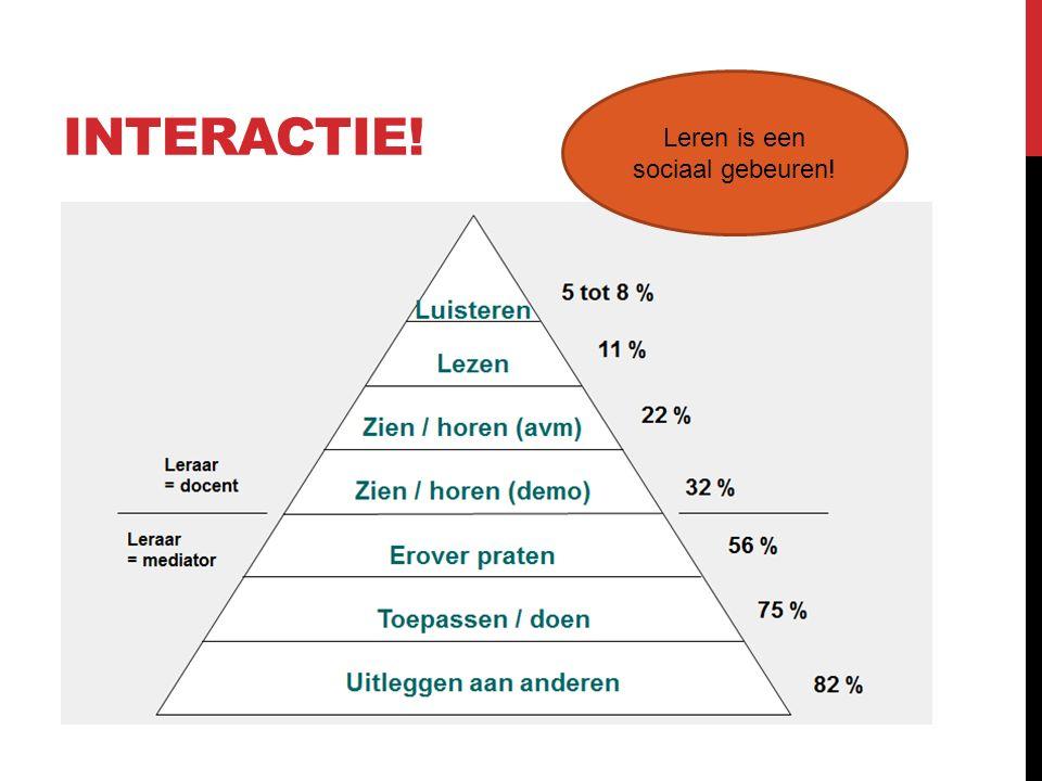 Leren is een sociaal gebeuren!