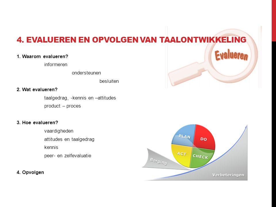 4. Evalueren en opvolgen van taalontwikkeling