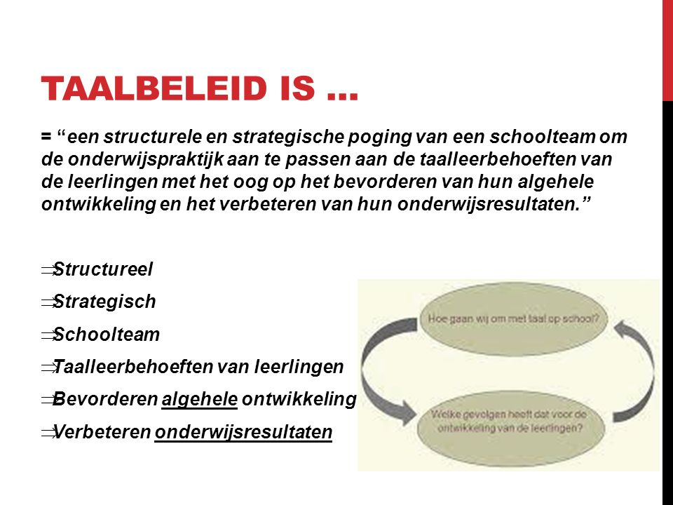 Taalbeleid is …
