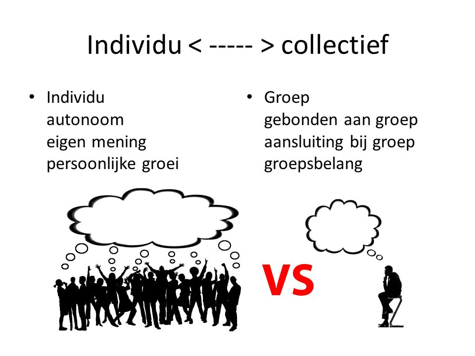 Individu < ----- > collectief