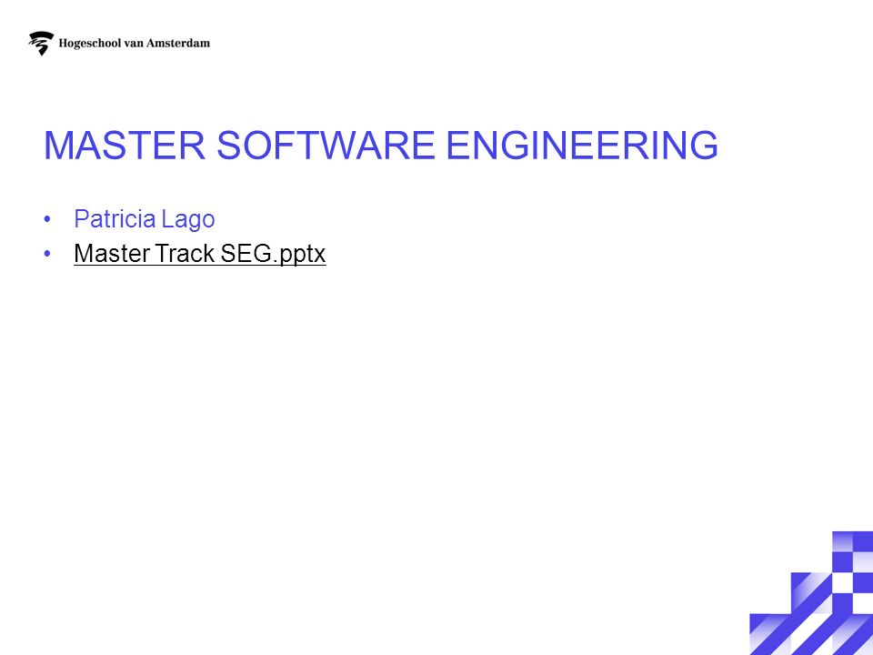 Master Software Engineering