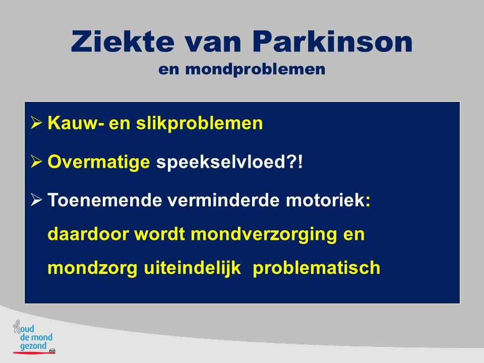 Ziekte van Parkinson en mondproblemen