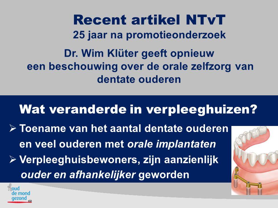 Recent artikel NTvT 25 jaar na promotieonderzoek